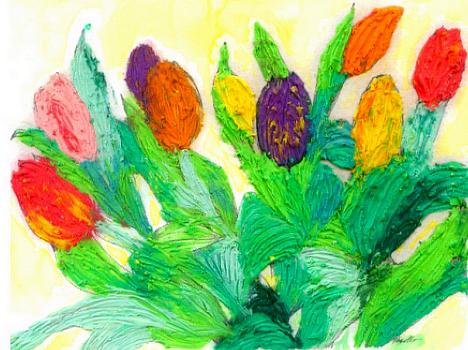 O noua provocare pentru juniorul tau: pictura cu plastilina