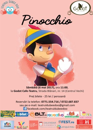 PINOCCHIO, la Godot Cafe-Teatru