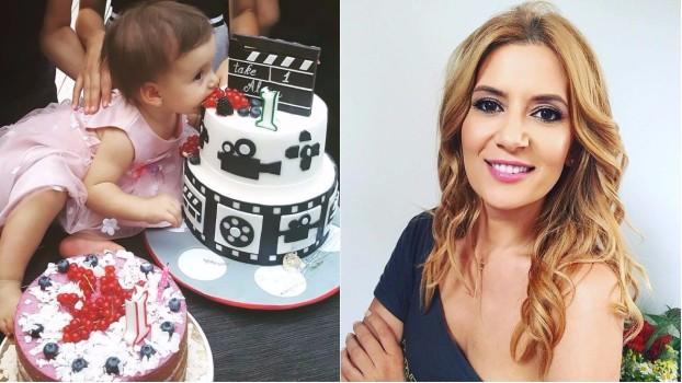 Fetiţa Amaliei Enache a avut parte de prima petrecere aniversară în avans