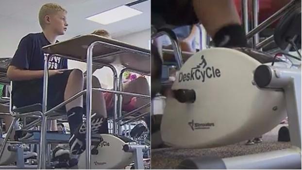 O altfel de școală! Instituția în care elevii învață pe biciclete, în loc de bănci