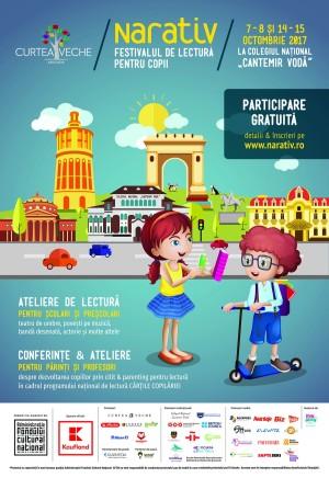 Au început înscrierile la NARATIV, festivalul de lectură pentru copii