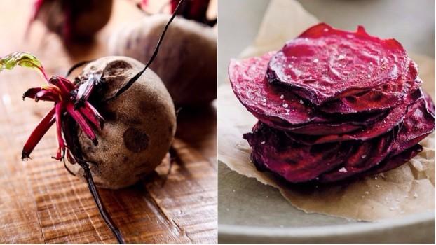 Cum transformi junk food-ul în mâncare sănătoasă? Cu chipsuri din sfeclă roşie