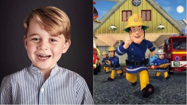 """Prințul George, personaj de desene animate în seria """"Pompierul Sam"""""""