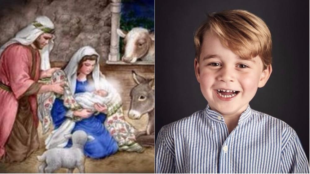 Prinţul George, într-un rol neașteptat în scena naşterii lui Iisus
