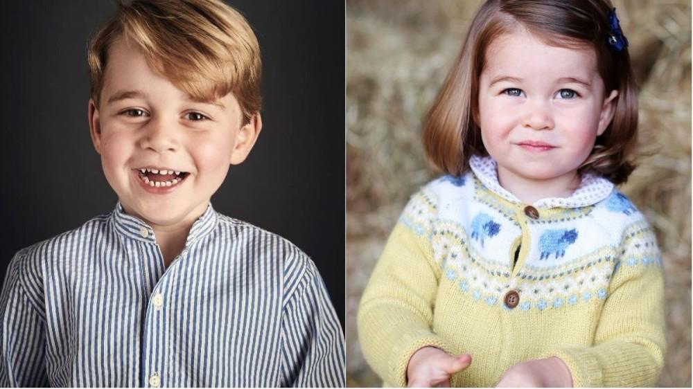 Prințul George și Prințesa Charlotte, adorabili în fotografia pentru felicitarea de Crăciun