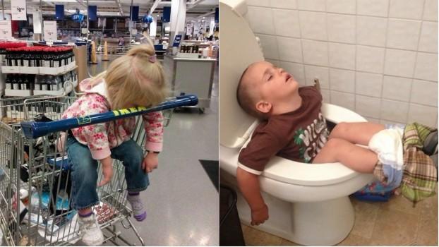 Copiii pot dormi oriunde și în orice poziție: 10 fotografii concludente
