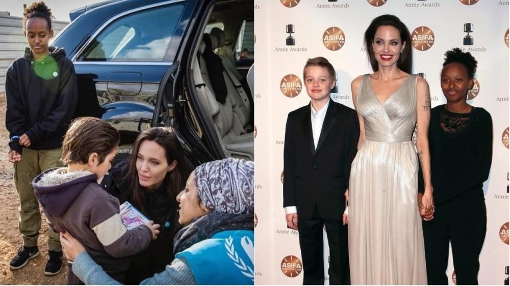 """Angelina Jolie, sfat pentru fiicele sale: """"Oricine se poate îmbrăca cu o rochie şi poate purta machiaj. Mintea voastră este cea care vă defineşte"""""""