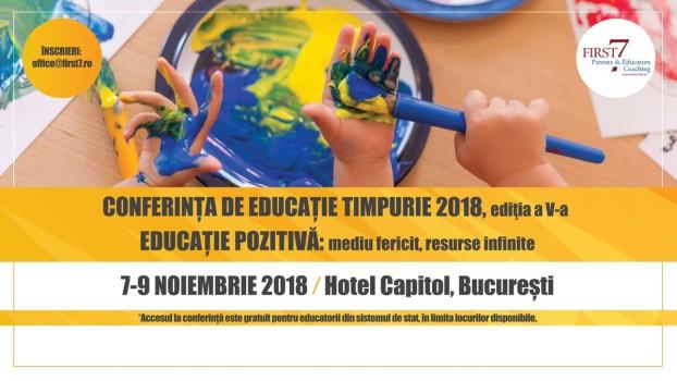 Conferința de educație timpurie – ediția aV-a. Educație pozitivă: mediu fericit, resurse infinite