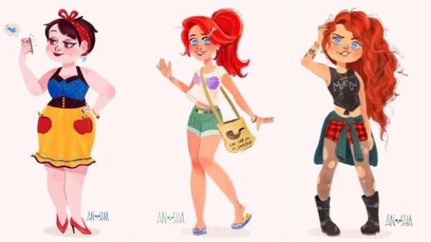 Printesele Disney in secolul 21: Ce meserii ar avea celebrele personaje