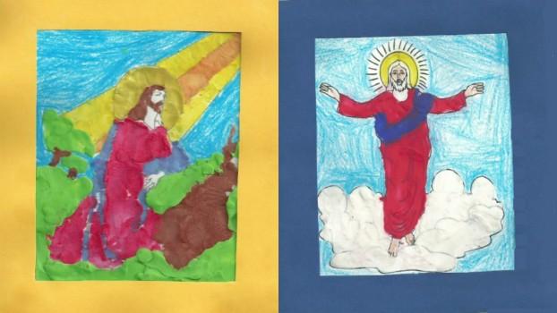 Credinţa prin ochi de copii: Icoane realizate din plastelină