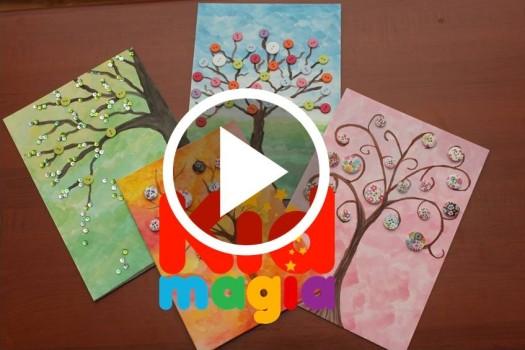 Cum să faci un copac cu nasturi VIDEO