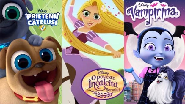 """""""O poveste încâlcită"""", """"Hotel Translivania"""", din octombrie la Disney Channel. """"Prietenii cățeluși"""", la Disney Junior"""