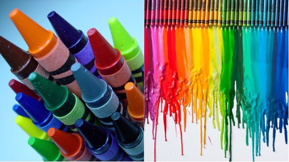 Artă nonconformistă! Creioane colorate topite