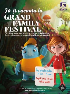 Începe Grand Family Festival! Copiii cu vârsta sub 12 ani au intrarea gratuită la cinema