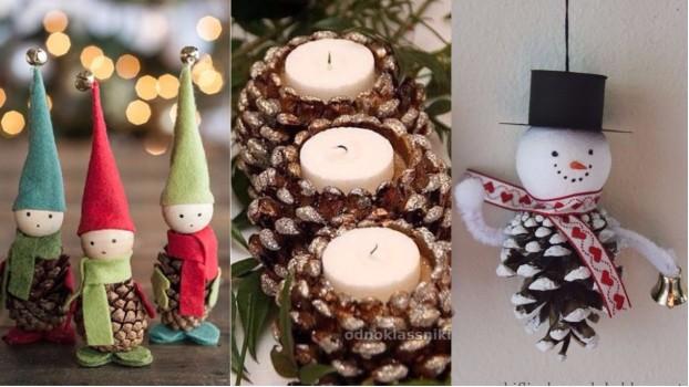 Ornamente din conuri de brad. 20 de idei pentru Crăciun