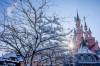 Lumea poveștilor în zăpadă!  Ninsoarea a transformat Disneyland Paris într-un tărâm de basm