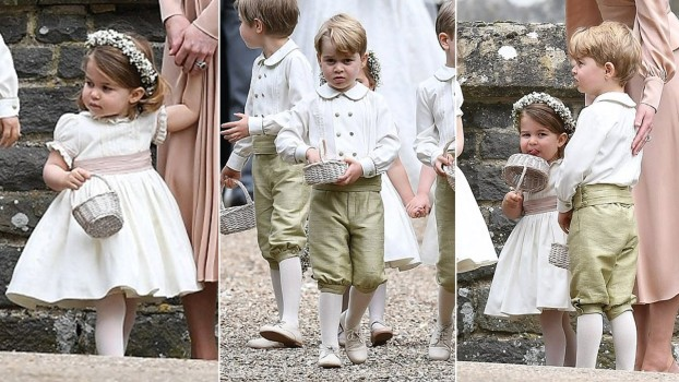 NUNTA REGALĂ: Prințesa Charlotte și Prințul George vor avea roluri importante în cadrul ceremoniei religioase.  De ce nu va fi prezent și Prințul Louis, mezinul familiei?