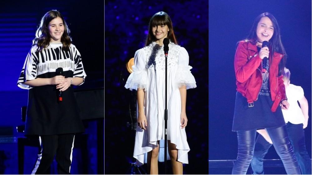 Maya Ciosa, Maria Popa și Olivia Alexandru sunt finalistele Vocea României Junior