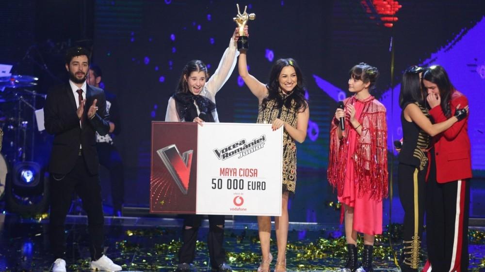 Vocea României Junior:  Maya Ciosa este marea câștigătoare!